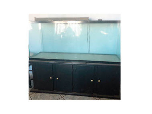 100 GALLON FISH TANK WITH WOOD STAND, ...