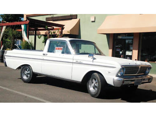 1965 FORD FALCON RANCHERO Good cond 302 HO with 5 spd manual trans new Holley Carb factory manua