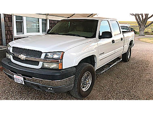 2003 CHEVY SILVERADO HD 2500 CREW CAB 4X4 - 60L at ac pwd pdl tw pseat 160716 9503 GOLD