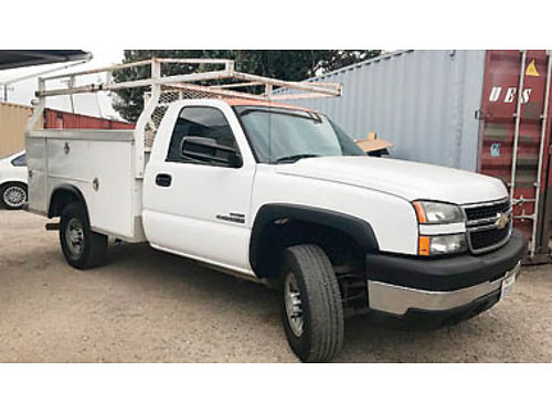 2006 CHEVY Regular Cab Duramax Royal opentop utility body wfull HD rack 177K miles 8995 Call