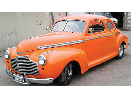 1941 CHEVY COUPE New 350 Chevy headers rebuilt 700R4 disc brakes PB PW PS tilt air shocks
