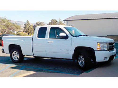 2007 CHEVY SILVERADO LTZ White exttan int all options heated leather seats dual exhaust bed co