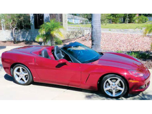 2006 CORVETTE CONVERTIBLE 9200 mi 6-speed manual flawless 80V GM color clean