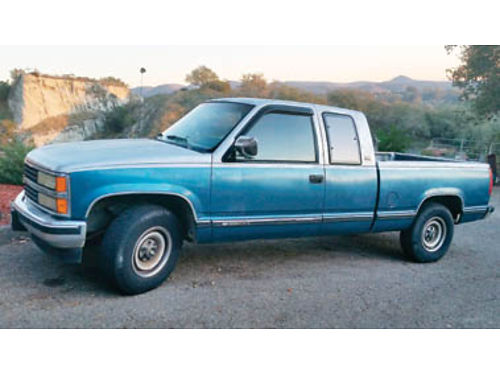 1990 CHEVY SILVERADO 215K miles 34 Ton AT Ext Cab 1 owner nonsmoker new waterpump new belts