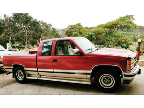 1992 CHEVY SILVERADO 34 Ton shortbed AT Ext cab 152K miles 1 owner nonsmoker running boards