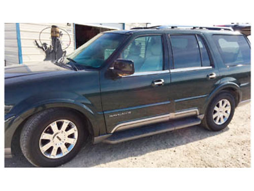 2003 LINCOLN NAVIGATOR All options available leather heatedAir Cond seats sunroof beautiful veh
