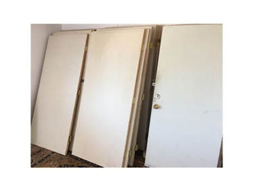 25 SOLID CORE DOORS In excellent condition 25 each Size 36 wide 80 Tall Some have hinges al
