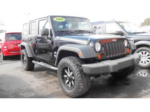 2008 JEEP WRANGLER UNLIMITED X AT V6 lthr CC tow pkg mnrf mint cond 4dr 4WD 19995 G476