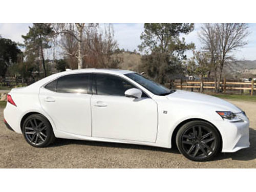 2015 LEXUS IS250 F-Sport V6 AT w stick  paddle shifters all power dual power seats- heated  ve