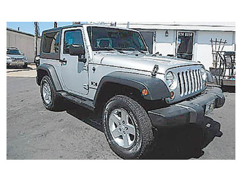2007 JEEP WRANGLER X 4x4 low miles hard top 14995 8968137864 CENTRAL COAST CAR CO 1575 W