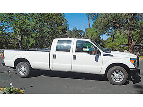 2015 FORD F250 Super Duty Crew Cab 4dr longbed 62L V8 AT all power hard to find work or play