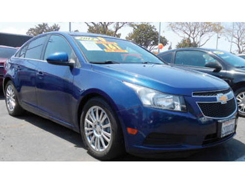2012 CHEVY CRUZE AT 4cyl 14L turbo cheap on gas 9995 288087 SBCARCO 1001 West Main St Sa