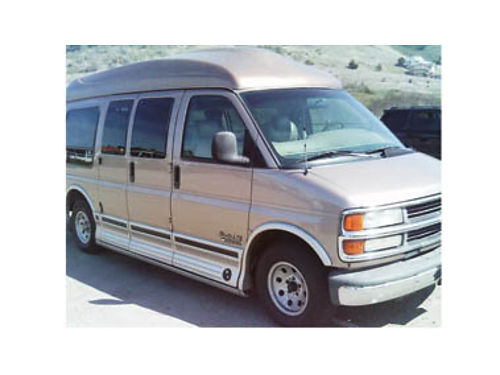 1999 CHEVY EXPRESS 1500 Custom High Top Conversion Van 255HP 57L V8 AT 19MPG Hwy 203K mi- strong