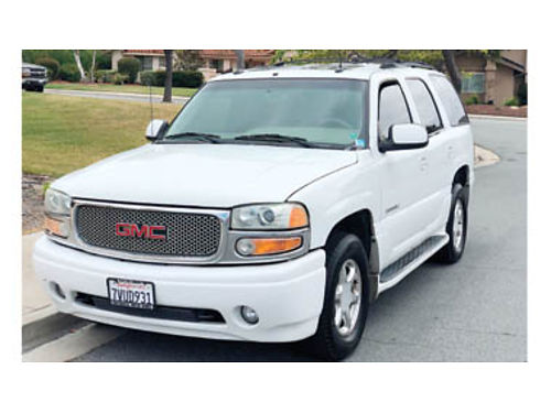 2003 YUKON DENALI AWD tan lthr interior wcaptns chairs new trans  frnt differential heated sea