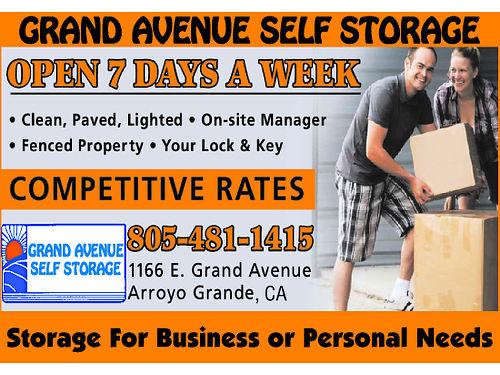 GRAND AVENUE SELF STORAGE- Open 7 days a week Clean Paved Lighted On-Site Manager Fenced Proper