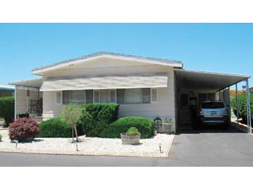 DEL CIELO MOBILE ESTATES Space 153 1974 Dualwide 24 x 52 2 bedrooms 2 baths Workshop Enclosu