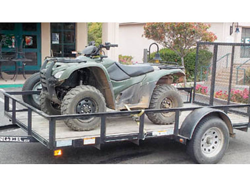 2012 HONDA 420 4x4 Quad 100 hours independent suspension fully loaded 5500 2011 Trailer 6x12