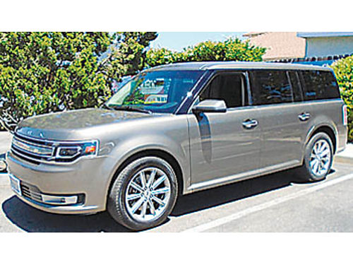 2014 FORD FLEX LIMITED - 35L V6 at ac pdl CD lthr 2 pseats 3rd row alloys 1 owner W0972
