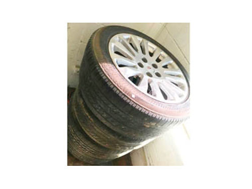 TIRES FOR 2008-12 Cadillac CTS 23550R18 in great shape clean rims 650 obo Call 805-714-6294