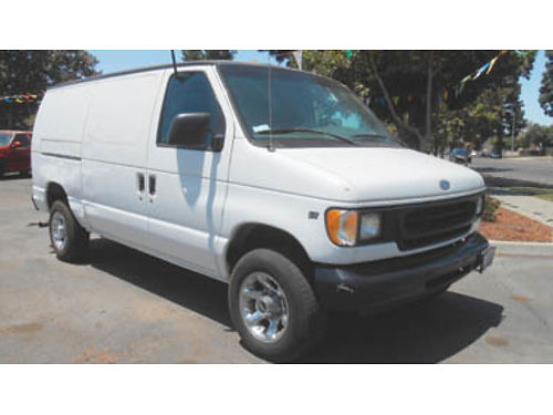 1997 FORD ECONOLINE 250 VAN V8 diesel low miles new brakes  new tires Stereo AC No smog need