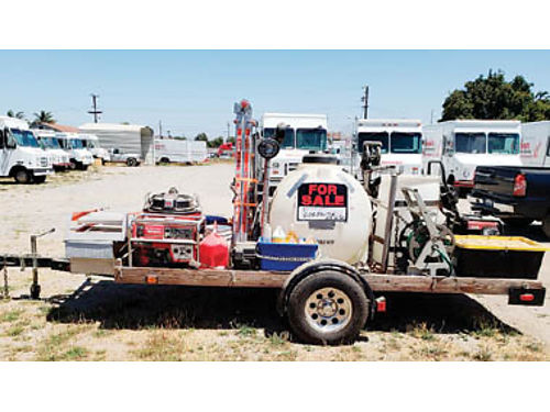 PRESSURE WASHING TRAILER wrecovery syst 55 gal ladders buffers gen air compressor Craftsman