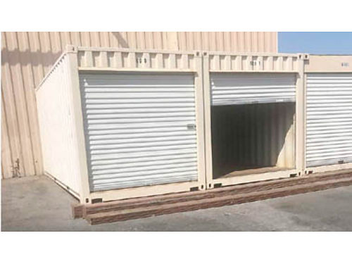 20 FOOT STORAGE CONTAINERS for sale xlnt cond Roll up doors a plus for easy access roof painted