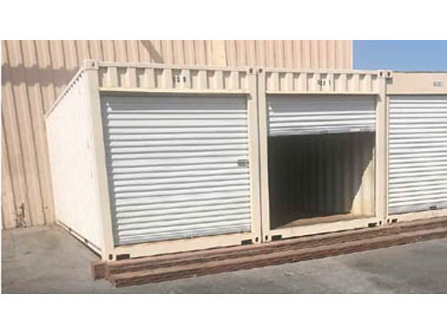 20 FOOT STORAGE CONTAINERS for sale excellent cond Roll up doors a plus for easy access roof pai