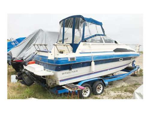 1987 BAYLINER FISHING BOAT 24 ocean and freshwater ready fishfinders life jackets 9HP trolling