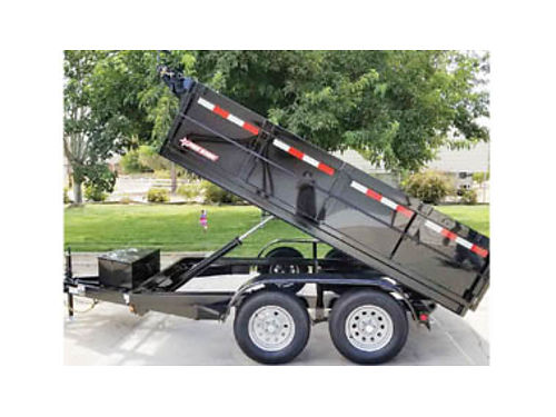 NEW 2019 6X10 DUMP TRAILER with 10000  ram 2-3500 axles one with brake tarp kit 4950 plus t