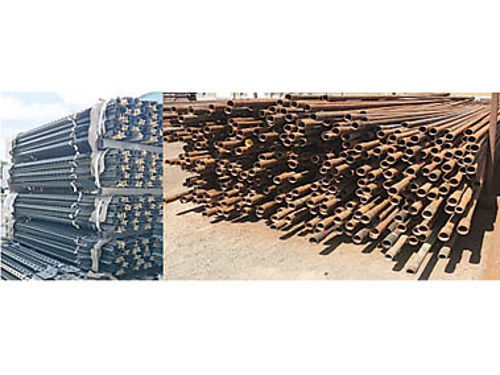 USED STEEL PIPE- POSTS, RODS & CABLE. ...
