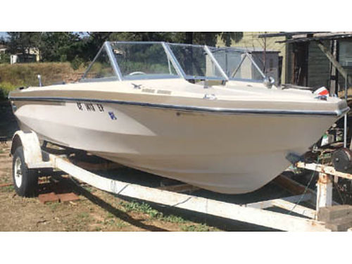 1971 GLASTRON Plus Trailer 17 6 needs some work great for fishing skiing cruising the lakes