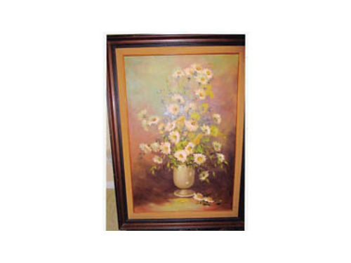 PAINTING- ROBERT COX 1934-2001 36 high 21 wide 1973 Flowers in vase 8900 Ventura