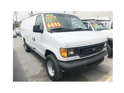 2004 FORD E350 Super Duty Hard to find diesel comm van Ext body cold AC ready for work - a money