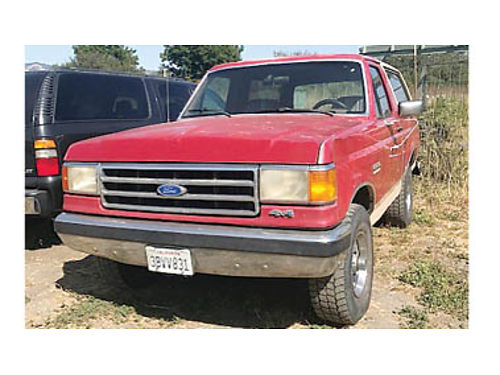 1990 FORD BRONCO 58L Automatic Trans Power windows power brakes 4X4 3500 Purchase supports l