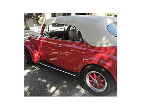 1977 VOLKSWAGEN Beetle red 63906 miles Convertible 4 Cyl Gold Excellent co
