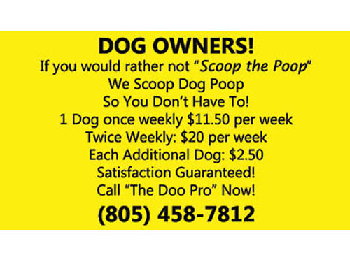 THEDOOPROCOM We Scoop Dog Poop So You Dont Have To 805 458-7812