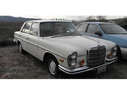 1972 MERCEDES 280SE 45 all original and complete 4 door air 134728 miles always stored insid