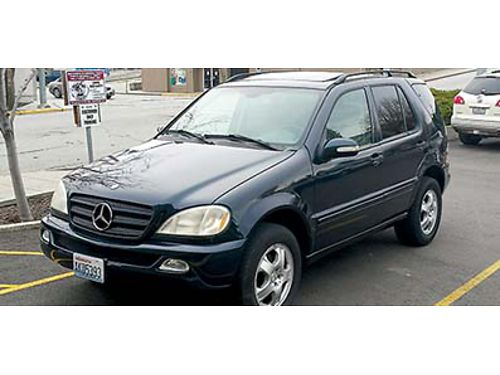 02 MERCEDES ML320 Automatic AWD V6 all power 139K fully loaded alloys roof rack sunmoon roof