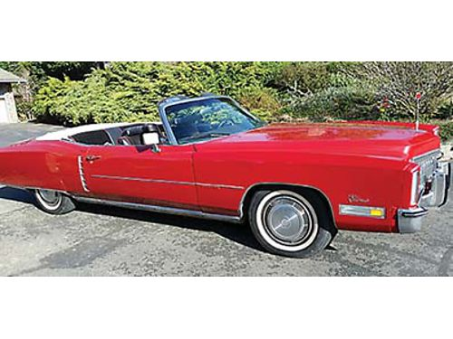 1972 CADILLAC EL DORADO Convertible Healthy 500 cubic inch big block V8 Automatic power brakes