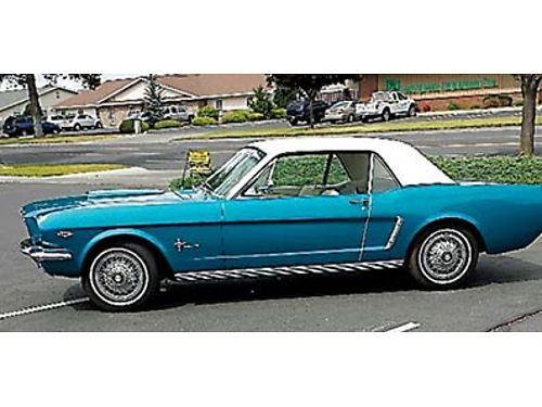 1965 CLASSIC Mustang Mint condition automatic power steering 289 cubic inch