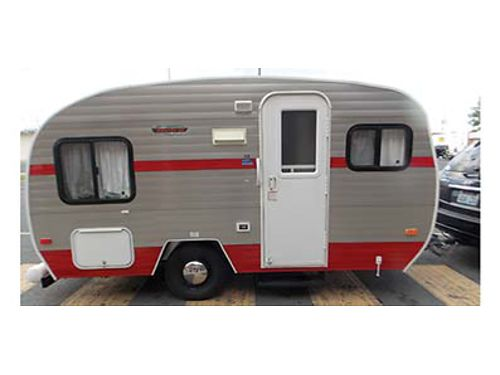 2013 RETRO RIVERSIDE 12 Model 155 Light weight for easy towing Dinette converts to sleeping area