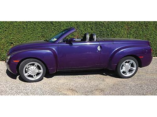 2004 CHEVROLET SSR RETRACTABLE Hard Top Convertible 35000 miles Excellent Condition 20000 509-679
