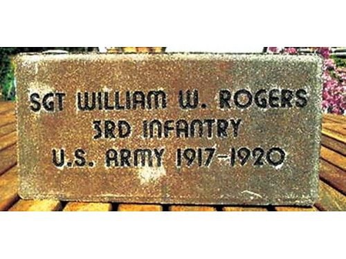 THIS is an example of a memorial brick for a USA Veteran or an active USA service member The