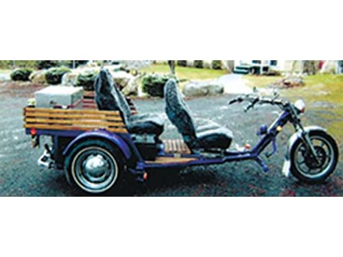 2011 HM Trike 109CID  Volkswagen auto purple color Kawasaki front end runs steers and stops g