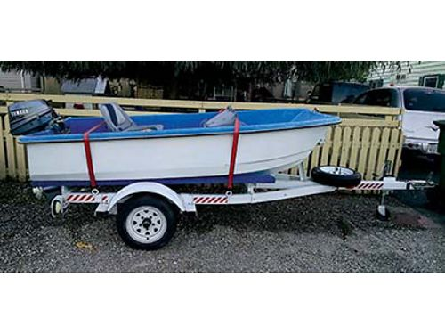 9FT LIVINGSTON BOAT with trailer 6 horse motor gas tank seats and life jackets for 150000 Plea