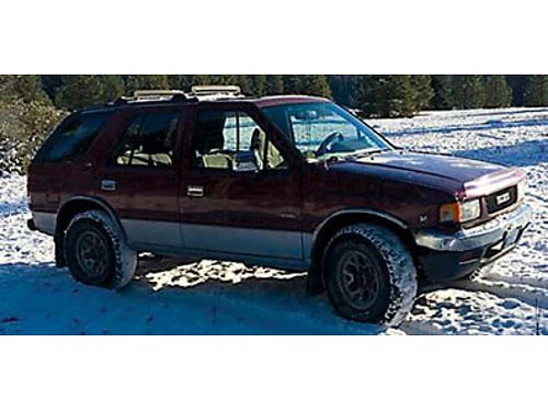 1992 ISUZU RODEO 4x4 Ski rack tow package licensed to Oct 2017 Sun roof electric windows 12