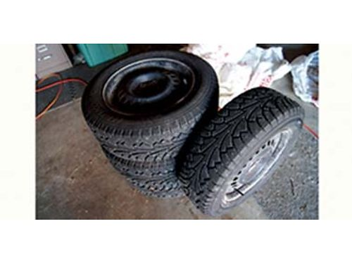 STUDDED Snow Tires on Steel Rims HANKOOK Winter i Pike 19565R15 91T MS Ravials Only used three