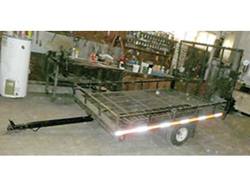 SOLD8 X 6 UTILITY trailer with fold down ramp 500 call 509-523-3066