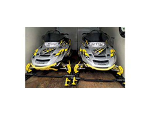 TWO SNOWMOBILES TRAILER AND COMPLETE APPAREL GEAR PACKAGE INCLUDES 2004 700 RMK 144 Track Polari