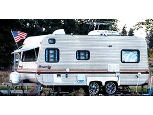 235 FOOT Champion Travel Trailer New Tires New Awning AC Furnace TV DVD Sound System Storm